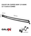 Proiector bara LED GALAXY LBL CURVED 300W 12/24V 6000K