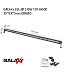 Proiector bara LED GALAXY LBL 5D 250W 12/24V 6000K