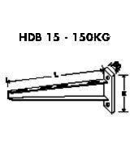 Suport perete  150kg 200mm