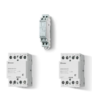 Contactor modular - 2 contacte, 25 A, Contactor modular, 25 A, Selector Auto-On-Off + indicator mecanic + LED, 230...240 V, C.A. (50/60Hz)/C.C., AgSnO2, Toate contactele NI (normal inchise), Standard