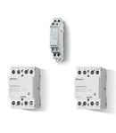 Contactor modular - 2 contacte, 25 A, Contactor modular, 25 A, Indicator mecanic + LED, 230...240 V, C.A. (50/60Hz)/C.C., AgSnO2, Toate contactele ND (normal deschise), Standard