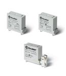 Releu miniaturizat implantabil (PCB) - 1 contact, 16 A, ND (contact normal deschis), 48 V, Protecție la fluxul de spalare cu solvenți (RT III), Sensibila in C.C., AgNi, Implantabil (PCB) + Faston 250, Niciuna
