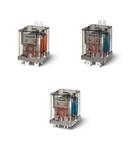 Releu de putere - 1 ND + 1 NI, 20 A, 1 ND + 1 NI, 110 V, Standard, C.C., AgCdO, Implantabil (PCB) cu terminale bifurcate, Niciuna