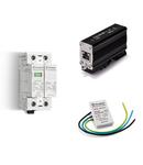 Descarcator (SPD) - Prin contact de semnalizare la distanta a starii de avarie, C.C. (aplicatii fotovoltaice), Descarcator tipul 2, Trifazat (3 varistoare), 20 kA (I n tipul 2), 1.000 V C.C. Max (sau conexiune N+PE pentru module cu eclator)