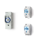 Ceas programabil (programator) - 1 contact, 16 A, Standard, 110...230 V, Saptamanal, cu tehnologie NFC, 35.8 mm latime, C.A. (50/60Hz),