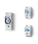 Ceas programabil (programator) - 1 contact, 16 A, Standard, 12...24 V, Saptamanal, cu tehnologie NFC, 35.8 mm latime, C.A. (50/60 Hz)/C.C.,