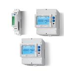 Contor de energie - 3 x 230/400 V, C.A. (50 Hz), Standard, 6 A (cu transformator de curent pana la 1,500 A), 3-faze cu afisaj LCD pentru functionarea cu transformator de curent, Standard, Versiuni conforme MID