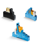 Interfața modulara - 1 contact, 10 A, C (contact comutator), 120 V, Standard, C.A. (50/60Hz), AgNi + Au, 35 mm rail (EN 60715) mount Push-in terminal socket, Standard pentru C.A.: LED verde + Varistor