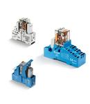 Releu de interfața modular - 4 contacte, 7 A, C (contact comutator), 125 V, ATEX compliant (Ex nA nC) without mechanical indicator, C.C., AgNi, Montare pe sina 35 mm (EN 60715), terminale cu șurub, Module 99 LED + Diode (DC)