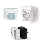 Senzor de miscare (crepuscular) - 230 V, Push-button connection, Grey RAL 7016, C.A. (50/60Hz), 1 output, 200W, Standard, Wall mounting residential switch boxes