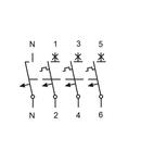 Intreruptor automat modular (MCB) AMPARO 6kA, B 6A, 3P+N