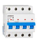 Intreruptor automat modular (MCB) AMPARO 6kA, C 13A, 3P+N