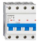 Intreruptor automat modular (MCB) AMPARO 6kA, C 25A, 3P+N