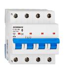 Intreruptor automat modular (MCB) AMPARO 6kA, C 32A, 3P+N