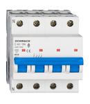Intreruptor automat modular (MCB) AMPARO 6kA, C 40A, 3P+N