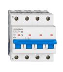 Intreruptor automat modular (MCB) AMPARO 6kA, C 50A, 3P+N