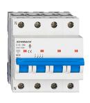 Intreruptor automat modular (MCB) AMPARO 6kA, C 6A, 3P+N