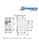 Intreruptor automat+diferential, B6/30mA, 10kA, tip AC,1P+N