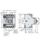 Intrerupator protectie motor TYPE E, Putere de rupere 100KA AT 400V, 0.16...0.25A