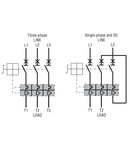 Intrerupator protectie motor TYPE E, Putere de rupere 100KA AT 400V, 0.63...1A