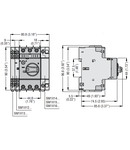 Intrerupator protectie motor TYPE E, Putere de rupere 100KA AT 400V, 6.3...10A