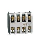 Contact auxiliar. FASTON TERMINALS, FOR BG SERIES MINI-CONTACTORS, 1NO + 3NC