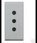 Priza standard italian argintiu Bticino Axolute