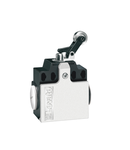 Limitator de cursa, K SERIES, ROLLER SIDE PUSH LEVER, 2 SIDE CABLE ENTRY. DIMENSIONS COMPATIBLE TO EN 50047, PLASTIC BODY, CONTACTS 1NO+1NC SNAP ACTION. METAL ROLLER