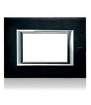 PLACA ORNAMENT 6 MODULE BRUSHED Antracit  BTICINO AXOLUTE