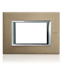 PLACA ORNAMENT 3 MODULE BRUSHED titanium  BTICINO AXOLUTE