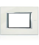 PLACA ORNAMENT 3 MODULE white limoges  BTICINO AXOLUTE