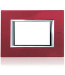 PLACA ORNAMENT 3 MODULE red china BTICINO AXOLUTE