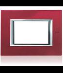 PLACA ORNAMENT 4 MODULE red china BTICINO AXOLUTE