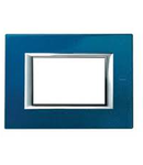 PLACA ORNAMENT 6 MODULE  blue meissen BTICINO AXOLUTE