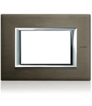 PLACA ORNAMENT 3 MODULE BRUSHED bronze  BTICINO AXOLUTE