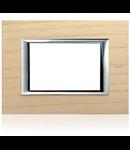 PLACA ORNAMENT 3 MODULE lemn ashwood BTICINO AXOLUTE