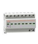 Descarcator tip 1 si 2 modnobloc, IEC IMPULSE CURRENT IIMP (10/350ΜS) 25KA PER POLE, 4P. Cu contact comanda de la distanta