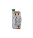 SURGE PROTECTION DEVICE TYPE 1 AND 2 WITH PLUG-IN CARTRIDGE, IEC IMPULSE CURRENT IIMP (10/350ΜS) 12.5KA PER POLE, 1P+N. Cu contact comanda de la distanta