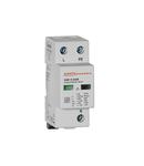 Descarcator tip 1 si 2 modnobloc, IEC IMPULSE CURRENT IIMP (10/350ΜS) 12.5kA PER POLE, 1P+N. Cu contact comanda de la distanta