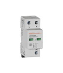 Descarcator tip 1 si 2 modnobloc, IEC IMPULSE CURRENT IIMP (10/350ΜS) 12.5kA PER POLE, 2P. Cu contact comanda de la distanta
