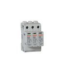 Descarcator tip 2 pentru  aplicatii fotovoltaice WITH PLUG-IN CARTRIDGE, EN SHORT-CIRCUIT CURRENT RATING ISCPV 1000A, +, -, PE. WITHOUT CONTACT REMOTE