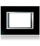 PLACA ORNAMENT 4 MODULE sticla black BTICINO AXOLUTE