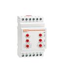 Releu trifazat pentru monitorizate tensiune, minima si maxima tensiune, frecventa minima si maxima. Lipsa faza, Lipsa nu si fazaj incorect, 208…240VAC 50/60HZ