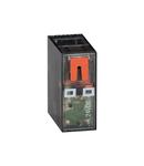 Releu in miniatura cu indicator led si actionare mecanica, 110/120VAC, 16A, 2C/O CONTACT. fixare in soclu 20 HR5XS2...