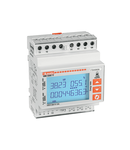 Contor trifazat MID CERTIFIED, NON EXPANDABLE, CONNECTION BY CT /5A SECONDARY, 4U, 2 PROGRAMMABLE STATIC OUTPUT, MULTI-MEASUREMENTS