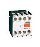 Contact auxiliar WITH FRONT CENTRE MOUNTING. SCREW TERMINALS, FOR BF SERIES CONTACTORS, 1NO + 3NC