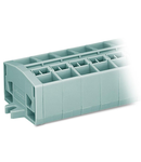 4-conductor terminal strip; 7-pole; without push-buttons; with fixing flanges; for screw or similar mounting types; Fixing hole 3.2 mm Ø; 2.5 mm²; CAGE CLAMP®; 2,50 mm²; gray
