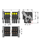 1-conductor female plug; 100% protected against mismating; Levers; Strain relief plate; direct marking; 1.5 mm²; Pin spacing 3.5 mm; 32-pole; 1,50 mm²; black