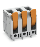 PCB terminal block; lever; 4 mm²; Pin spacing 7.5 mm; 5-pole; Push-in CAGE CLAMP®; 4,00 mm²; gray