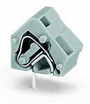 Stackable PCB terminal block; 2.5 mm²; Pin spacing 10/10.16 mm; 1-pole; CAGE CLAMP®; commoning option; 2,50 mm²; gray